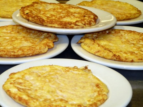 Tortillas made in Bodega Donostiarra