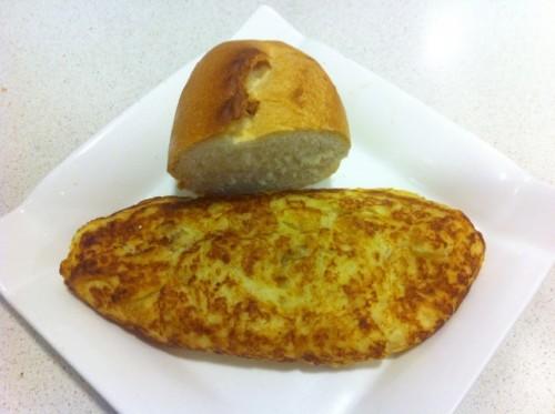 La tortilla del Aloña Mendi. Foto: Donostia355.com