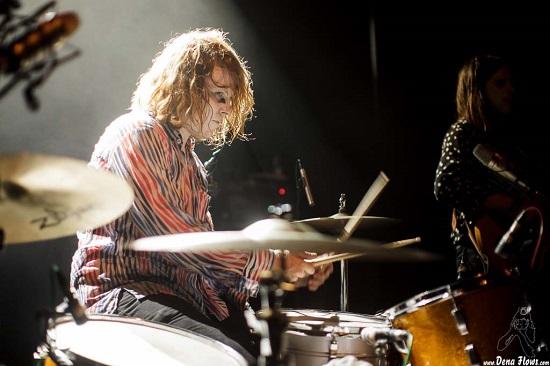 Ty Segall, batería de Fuzz, Aste Nagusia 2015, Kafe Antzokia, Bilbao. Foto por Dena Flows